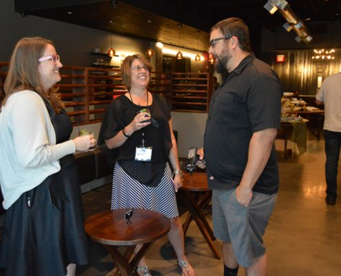Vest Pocket Vice President Rebecca Yates with Board Member Holly Duncan and The Ruin's Rheda Fouad