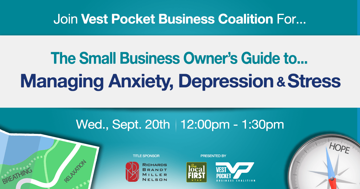 Join Vest Pocket on Sept. 20th For The Small Business Owner's Guide to Managing Anxiety, Depression, and Stress